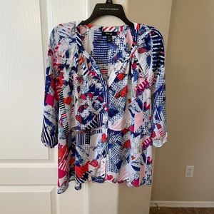 Style & Co. abstract print blouse